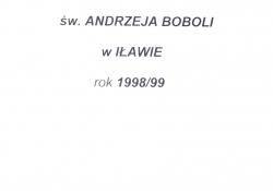 Kronika parafii 1998-1999